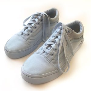 VANS Baby Light Blue Old School Lace Up Sneakers